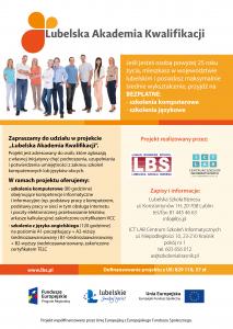 Plakat Lubelska Akadmia Kwalifikacji