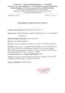 Ostrzeżenie oburzach zgradem 21.07.2017 r-thumbnail