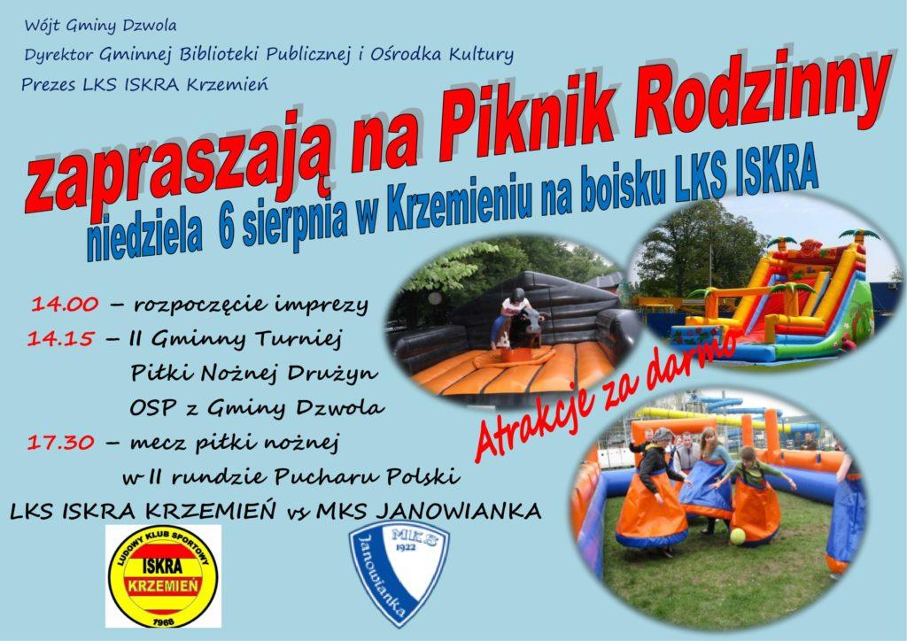 Zaproszenie Piknik Krzemień 2017-1