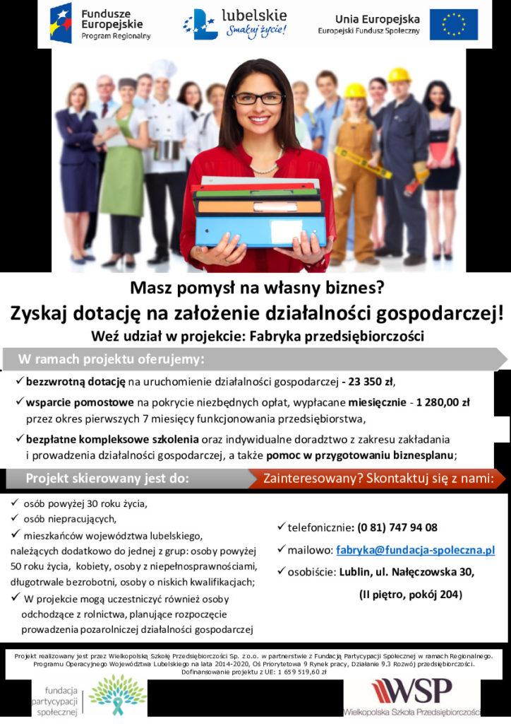 Plakat - Fabryka przedsiębiorczości - dodruku-thumbnail