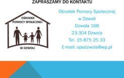 Więcej o: Ośrodek Pomocy Społecznej wDzwoli wspiera osoby znajdujące się wtrudnej sytuacji życiowej